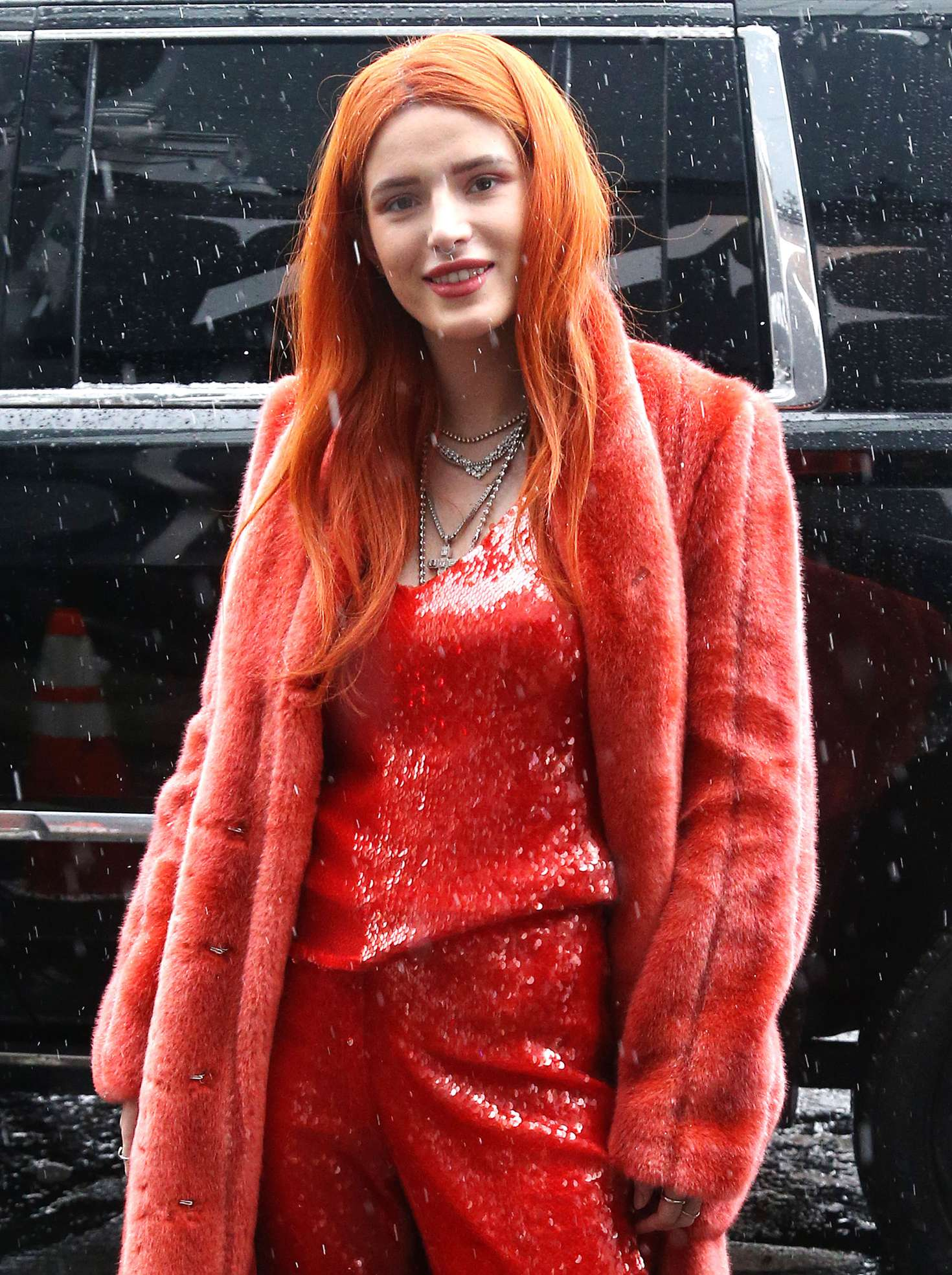 Bella Thorne – Attending The Sally LaPointe Fashion Show In New York