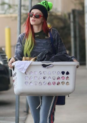 Bella Thorne Doing Their Laundry at The Laundromat in LA
