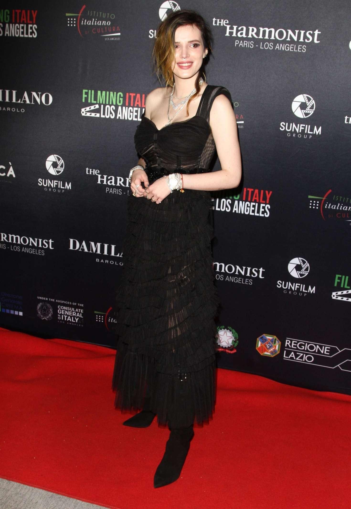 Bella Thorne 2019 : Bella Thorne: Filming Italy Awards -08