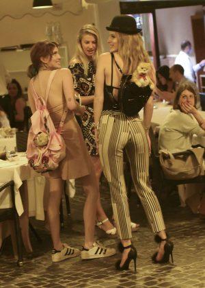 Bella Thorne: Having Dinner in Rome -02