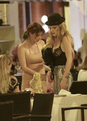 Bella Thorne: Having Dinner in Rome -08