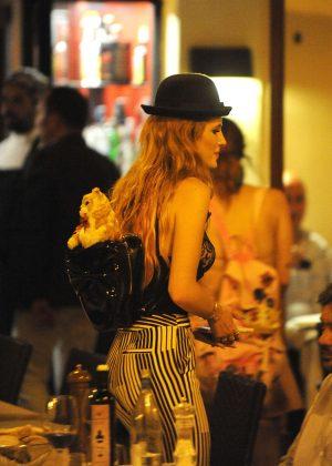 Bella Thorne: Having Dinner in Rome -17