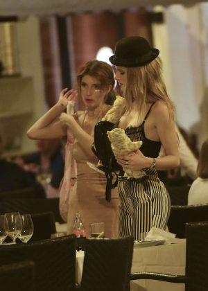 Bella Thorne: Having Dinner in Rome -19