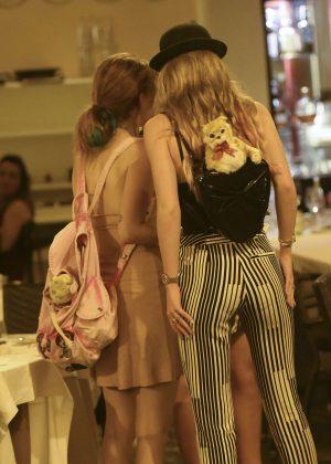 Bella Thorne: Having Dinner in Rome -27