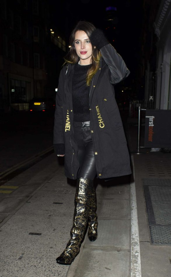 Bella Thorne - Heading out for dinner in London
