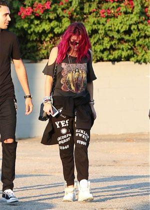 Bella Thorne heading to the recording studio in Los Angeles