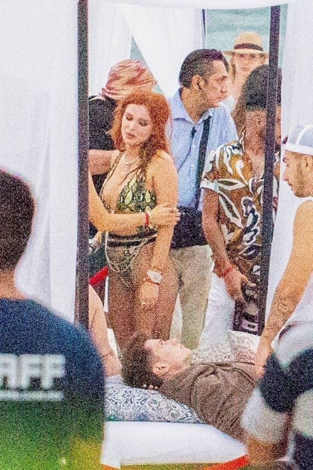 Bella Thorne - In a bikini partying in Tulum - Mexico