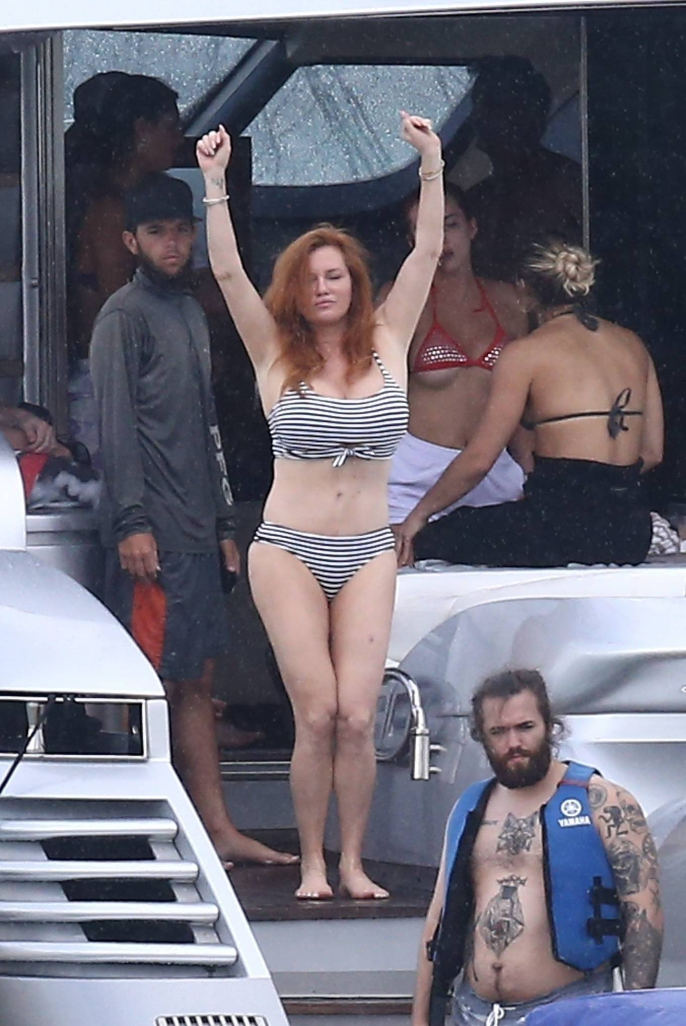 Bella Thorne 2021 : Bella Thorne – In bikini onboard a yacht with mom and friends in Miami-08
