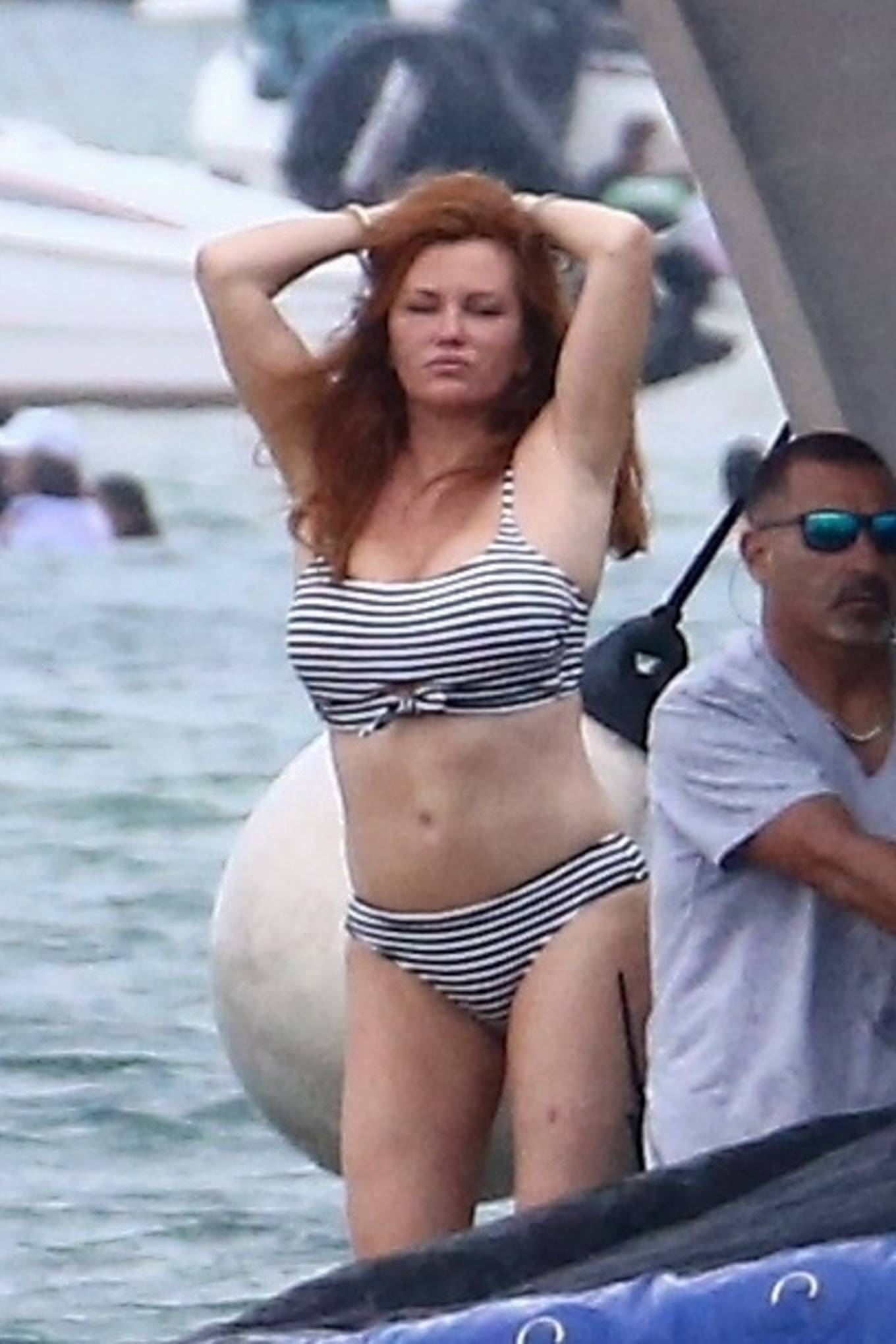 Bella Thorne 2021 : Bella Thorne – In bikini onboard a yacht with mom and friends in Miami-11