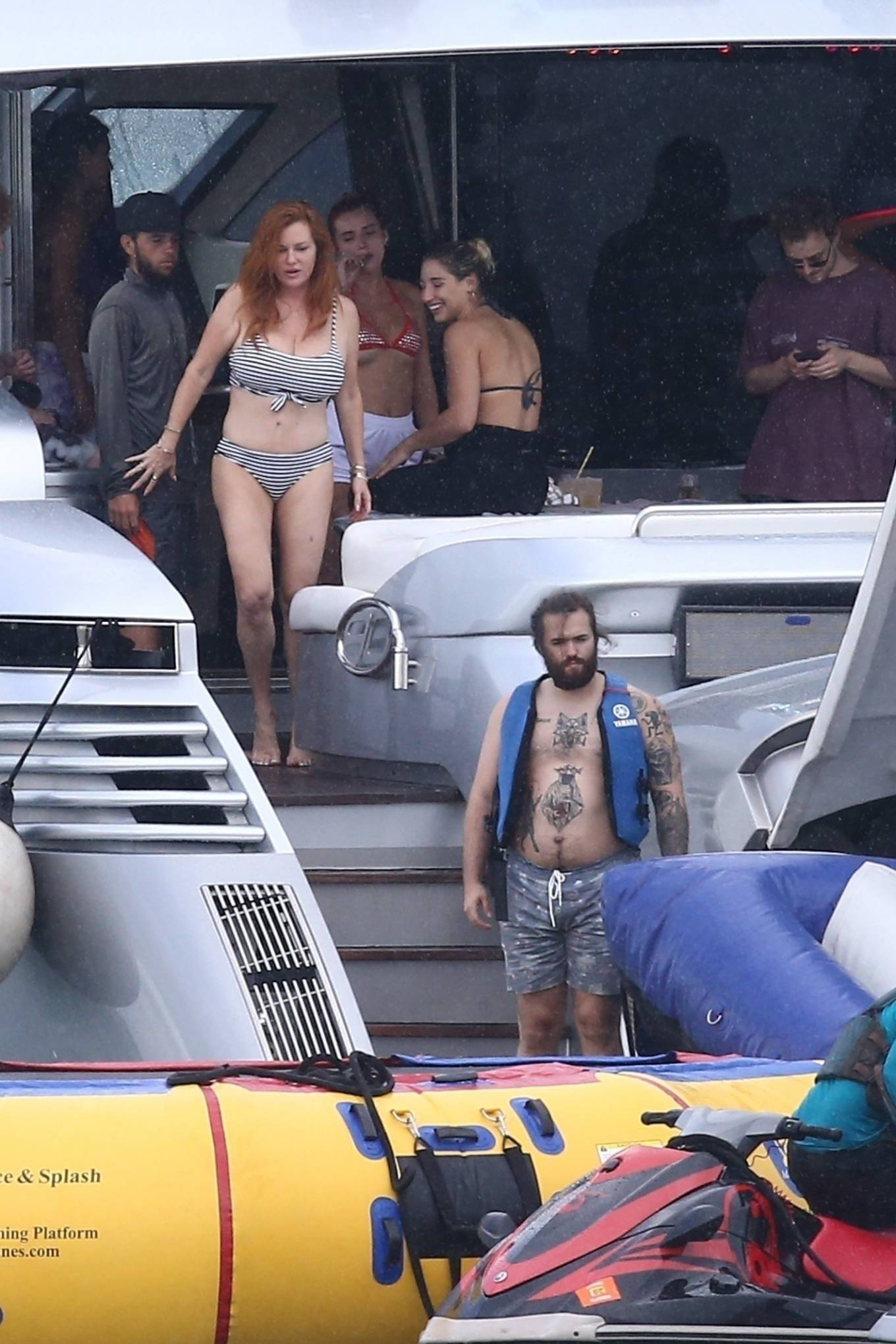 Bella Thorne 2021 : Bella Thorne – In bikini onboard a yacht with mom and friends in Miami-14