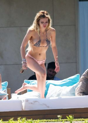Bella Thorne in Bikini Sunbathing in Cannes