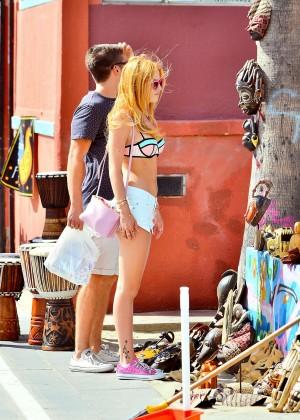 Bella Thorne in Bikini Top -02