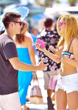 Bella Thorne in Bikini Top -05
