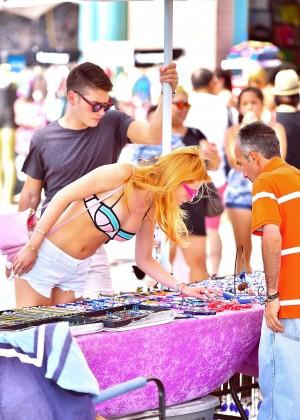 Bella Thorne in Bikini Top -12