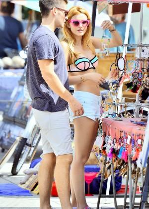 Bella Thorne in Bikini Top -29