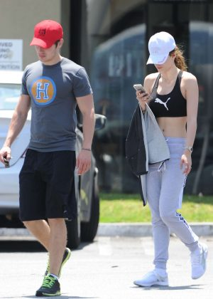 Bella Thorne in Crop Top Out in Studio City