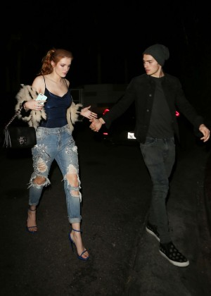 Bella Thorne in Ripped Jeans -12