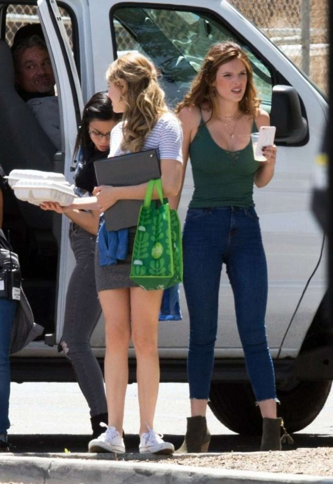 Bella Thorne 2016 : Bella Thorne in Jeans On the set of You Get Me -02