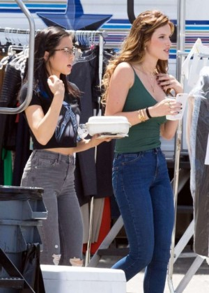 Bella Thorne in Jeans On the set of You Get Me -07