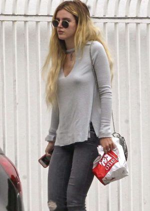 Bella Thorne in Jeans out in LA