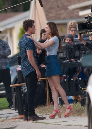 Bella Thorne in Mini Skirt On You Get Me -02