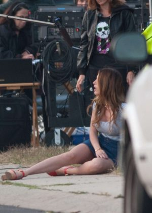 Bella Thorne in Mini Skirt On You Get Me -03