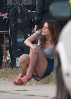 Bella Thorne in Mini Skirt On You Get Me -06