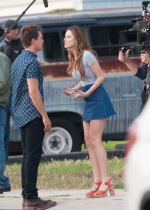 Bella Thorne in Mini Skirt On You Get Me -08