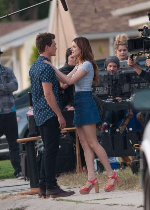 Bella Thorne in Mini Skirt On You Get Me -09