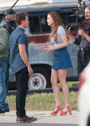 Bella Thorne in Mini Skirt On You Get Me -10