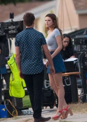 Bella Thorne in Mini Skirt On You Get Me -11