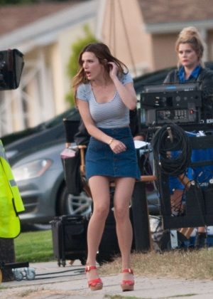 Bella Thorne in Mini Skirt On You Get Me -12