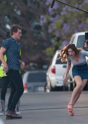Bella Thorne in Mini Skirt On You Get Me -13