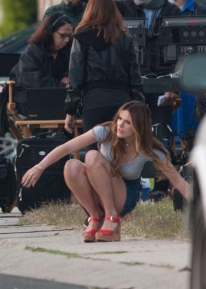 Bella Thorne in Mini Skirt On You Get Me -14