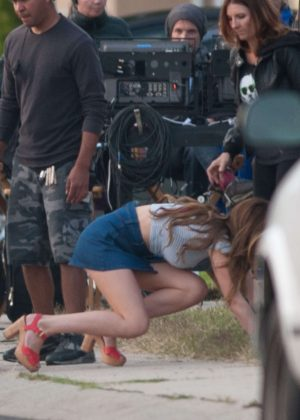 Bella Thorne in Mini Skirt On You Get Me -16