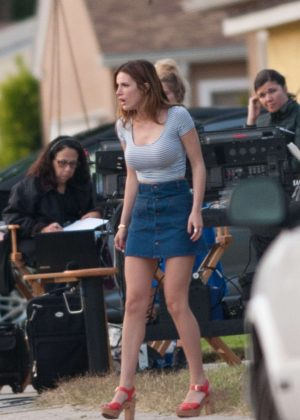 Bella Thorne in Mini Skirt On You Get Me -17