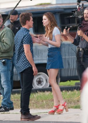 Bella Thorne in Mini Skirt On You Get Me -18