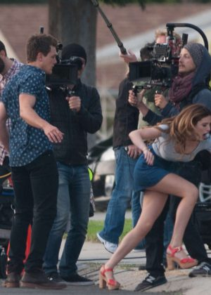 Bella Thorne in Mini Skirt On You Get Me -20