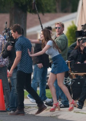 Bella Thorne in Mini Skirt On You Get Me -21