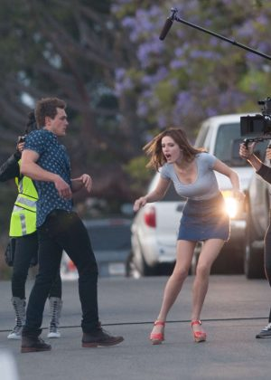 Bella Thorne in Mini Skirt On You Get Me -22