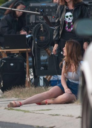 Bella Thorne in Mini Skirt On You Get Me -25
