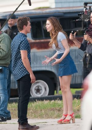 Bella Thorne in Mini Skirt On You Get Me -26