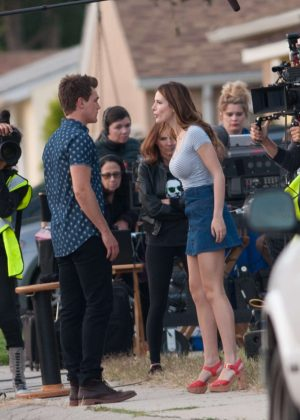 Bella Thorne in Mini Skirt On You Get Me -27