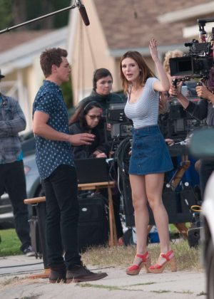 Bella Thorne in Mini Skirt On You Get Me -28