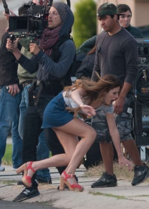 Bella Thorne in Mini Skirt On You Get Me -29