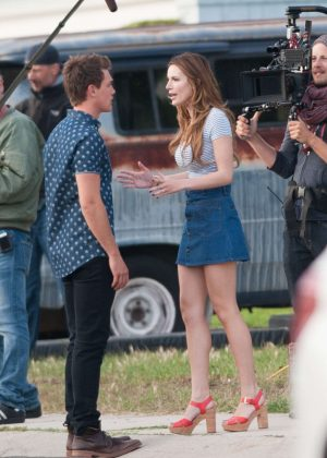 Bella Thorne in Mini Skirt On You Get Me -30