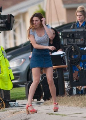 Bella Thorne in Mini Skirt On You Get Me -33