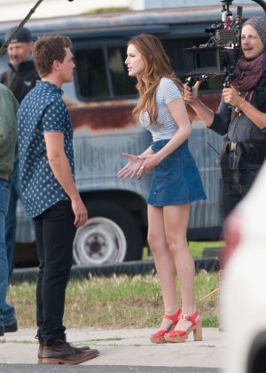 Bella Thorne in Mini Skirt On You Get Me -34