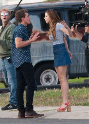 Bella Thorne in Mini Skirt On You Get Me -35