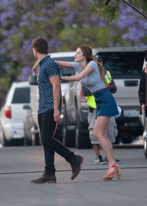 Bella Thorne in Mini Skirt On You Get Me -37